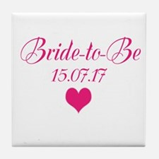 Bride To Be Wedding Date Tile Coaster