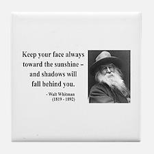 Walter Whitman 3 Tile Coaster