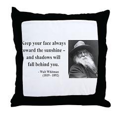 Walter Whitman 3 Throw Pillow