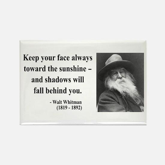 Walter Whitman 3 Rectangle Magnet