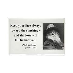 Walter Whitman 3 Rectangle Magnet (10 pack)