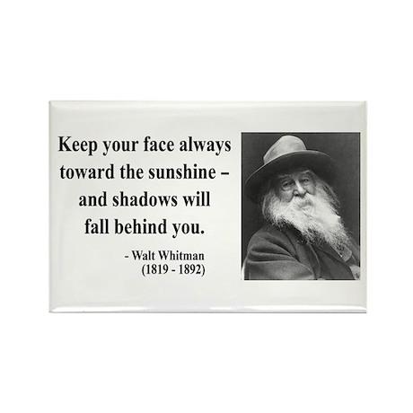 Walter Whitman 3 Rectangle Magnet (100 pack)
