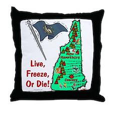 NH-Freeze! Throw Pillow
