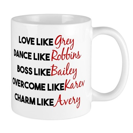 Greys Anatomy Characters Mug