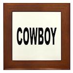 Cowboy Framed Tile