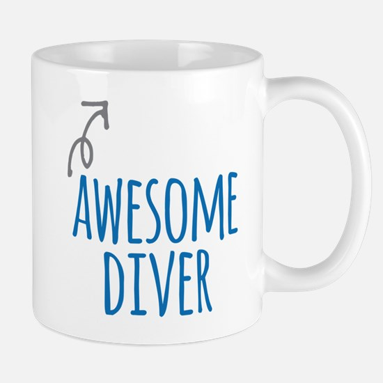 Awesome diver Mugs