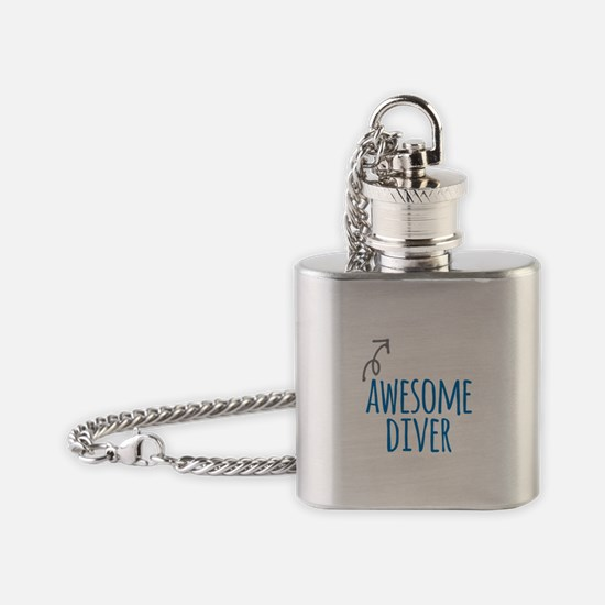 Awesome diver Flask Necklace