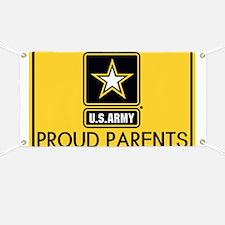 U.S. Army: Proud Parents (Gold) Banner