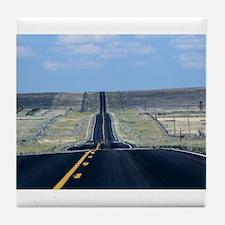 open road Tile Coaster