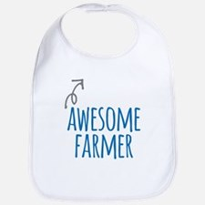 Awesome farmer Baby Bib