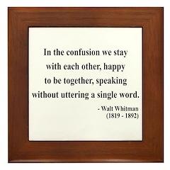 Walter Whitman 4 Framed Tile