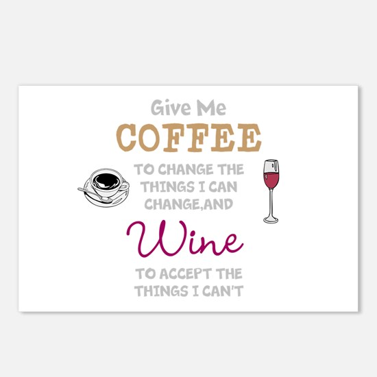 Coffee and Wine Postcards (Package of 8)