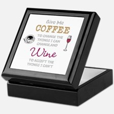 Coffee and Wine Keepsake Box
