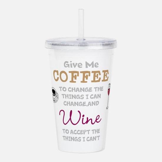 Coffee and Wine Acrylic Double-wall Tumbler