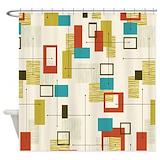 Mid century Shower Curtains