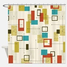 Cute Space age Shower Curtain