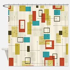 Cute Geometric Shower Curtain