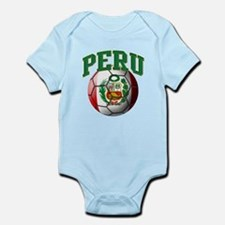 Flag of Peru Soccer Ball Body Suit
