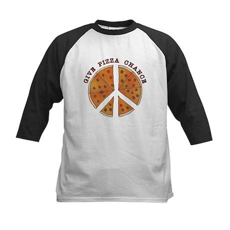 Give Pizza Chance Kids Baseball Jersey