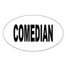 Comedian Oval Decal