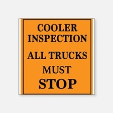 COOLER INSPECTION Sticker