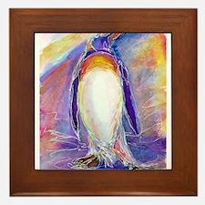 Penguin! Colorful, fun, nature art! Framed Tile
