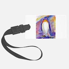 Penguin! Colorful, fun, nature art! Luggage Tag