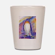 Penguin! Colorful, fun, nature art! Shot Glass