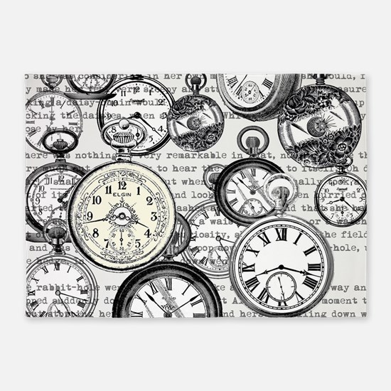 White Rabbit Watches Timepiece Alic 5'x7'Area Rug