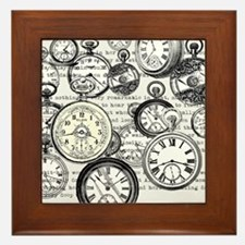 White Rabbit Watches Timepiece Alice Framed Tile