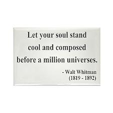 Walter Whitman 5 Rectangle Magnet