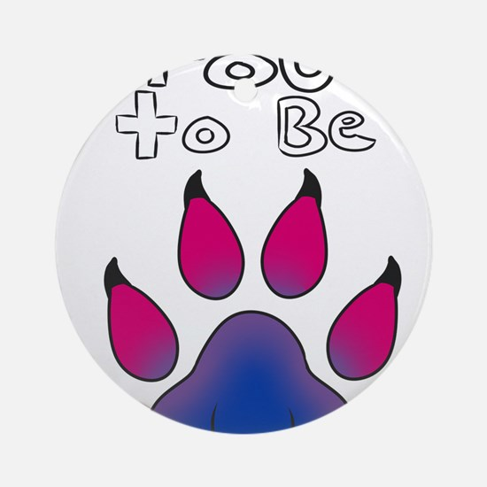 Proud To Be Bisexual Furry Round Ornament
