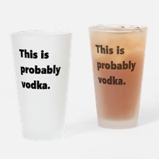 This is probably vodka Drinking Glass