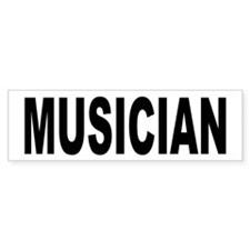Musician Bumper Car Sticker
