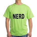 Nerd (Front) Green T-Shirt