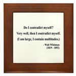 Walter Whitman 7 Framed Tile