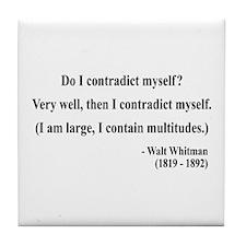 Walter Whitman 7 Tile Coaster