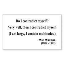 Walter Whitman 7 Rectangle Decal
