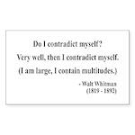 Walter Whitman 7 Rectangle Sticker