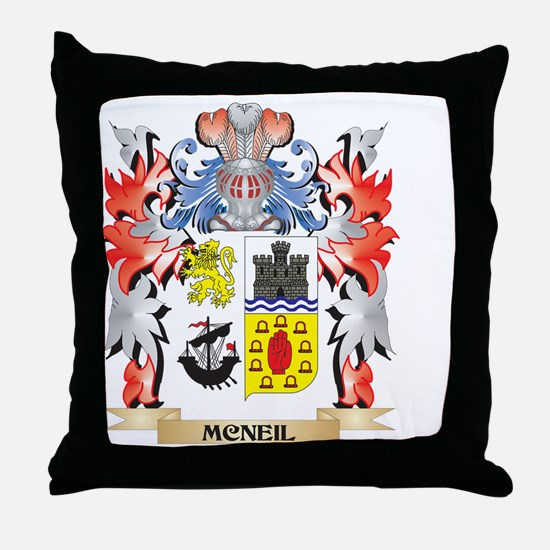 Mcneil Coat of Arms - Family Crest Throw Pillow
