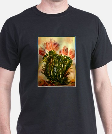 flowering cactus, southwest art T-Shirt