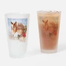 Cute Christmas horse Drinking Glass
