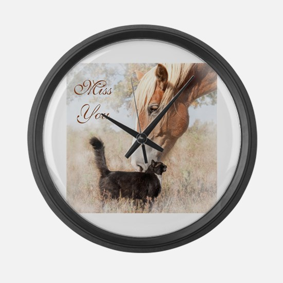 Cute Horse eye Large Wall Clock