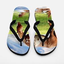 Unique Background Flip Flops