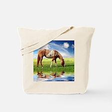 Unique Christmas horses Tote Bag