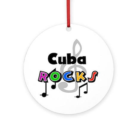Cuba Rocks Ornament (Round)