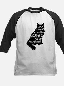 Valentine Cat loves Sweatpants Baseball Jersey