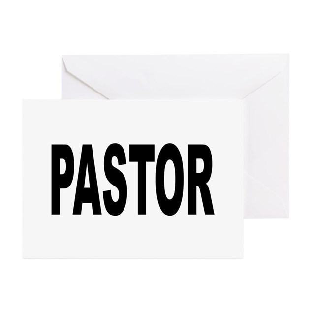 Pastor Greeting Cards (Pk of 10) by bobsgift