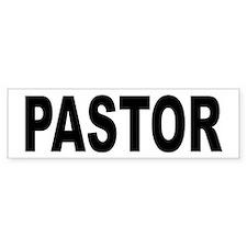 Pastor Bumper Car Sticker
