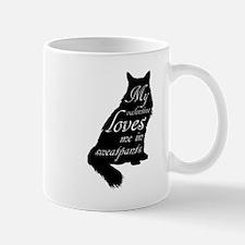 Valentine Cat loves Sweatpants Mugs
